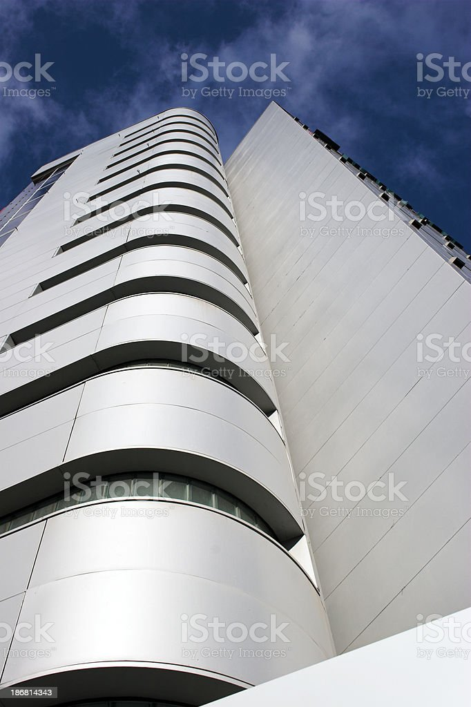 Futuristic Silver Hotel royalty-free stock photo