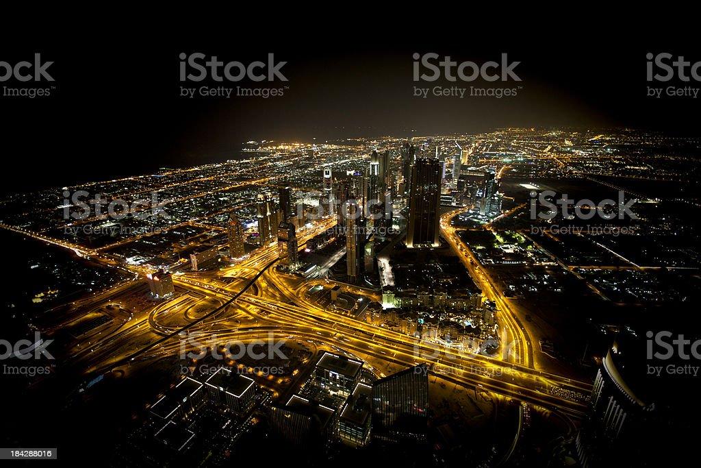 futuristic skyline dubai royalty-free stock photo