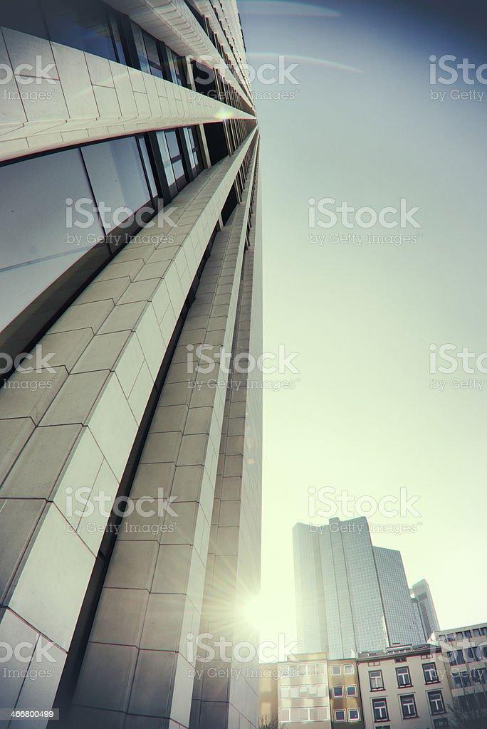 Futuristic skyscrapers Frankfurt Germany stock photo