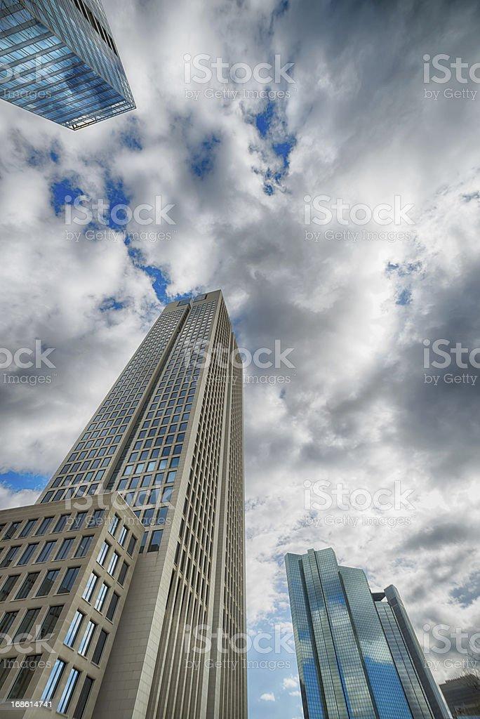 Futuristic skyscrapers stock photo