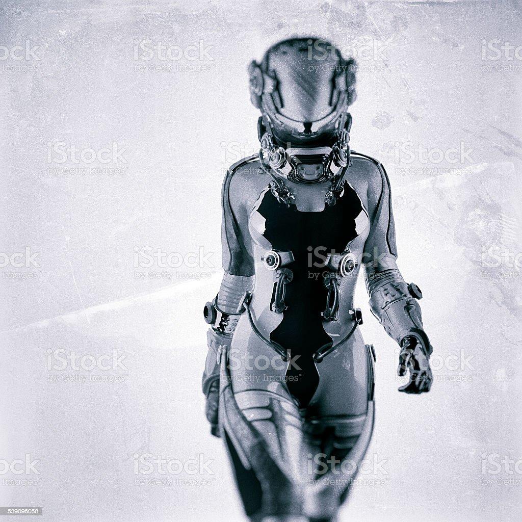 Futuristic Spacesuit Astronaut Cyborg stock photo ...