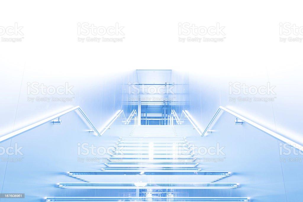 Futuristic Staircase royalty-free stock photo