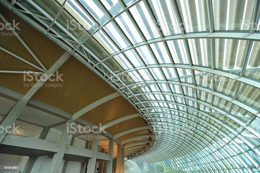 Futuristic Steel Roof stock photo