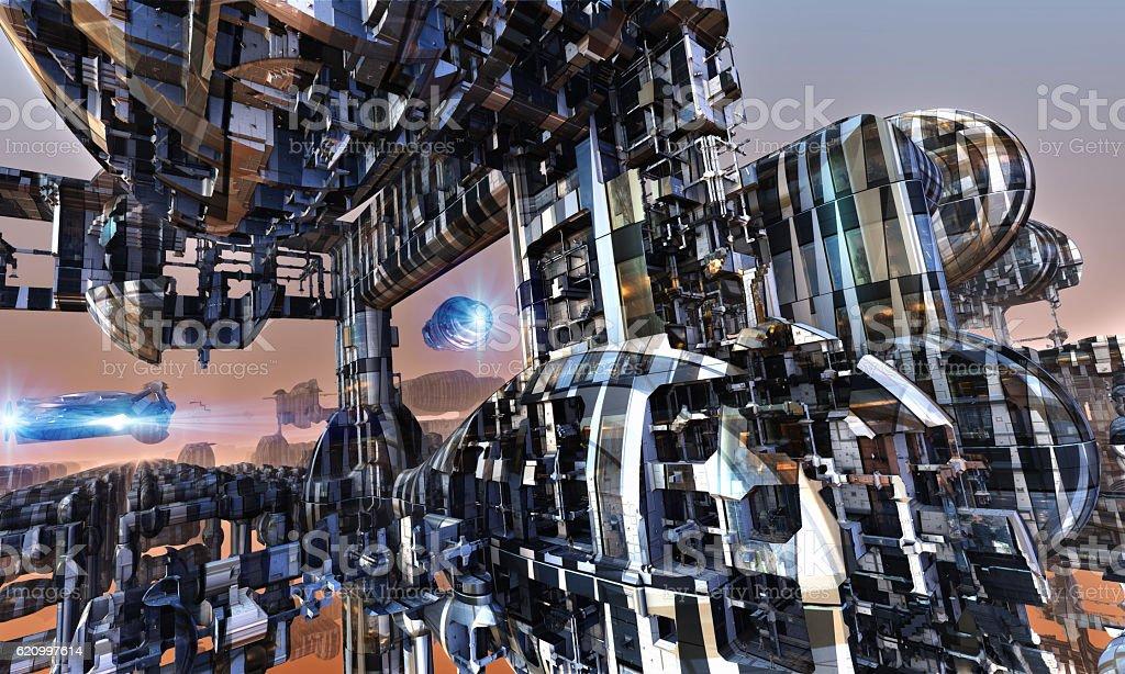 Futuristic structure. stock photo