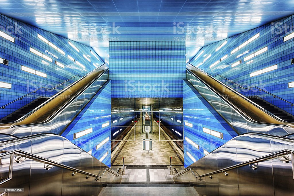 Futuristic Subway Station stock photo