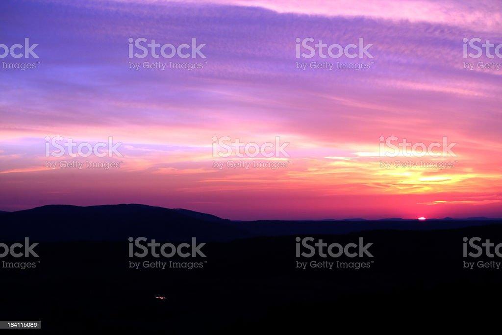 Futuristic Sundown royalty-free stock photo