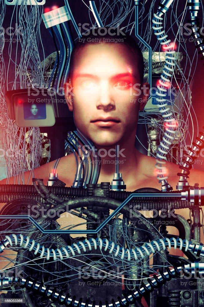 Futuristic surveillance and technology concept stock photo