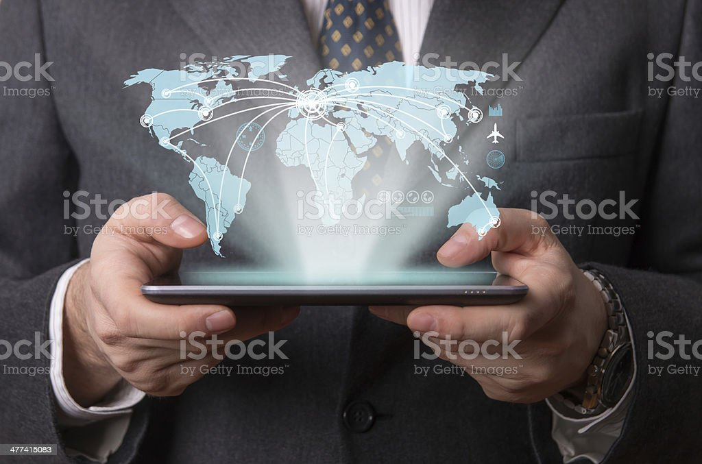Futuristic tablet stock photo