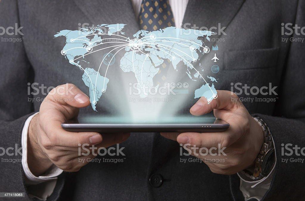 Futuristic tablet stock photo