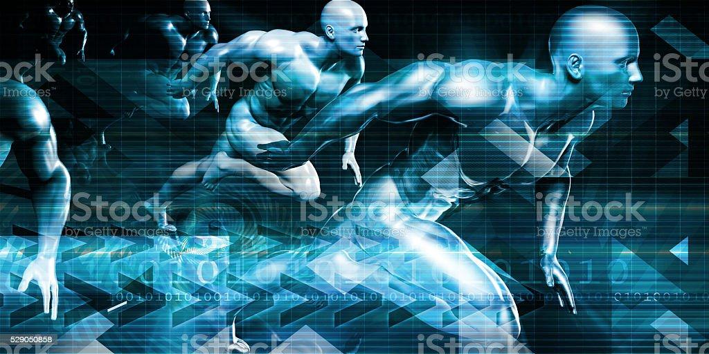 Futuristic Technology Background stock photo