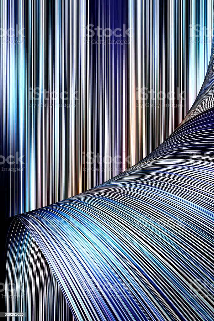Futuristic Technology Background With Page Curl stock photo