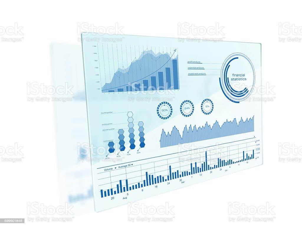 Futuristic touch screen interface stock photo