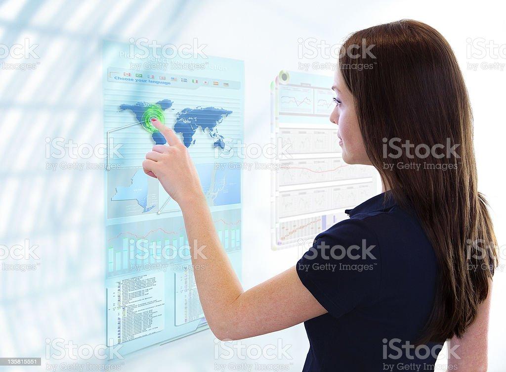 Futuristic Touch Screen stock photo