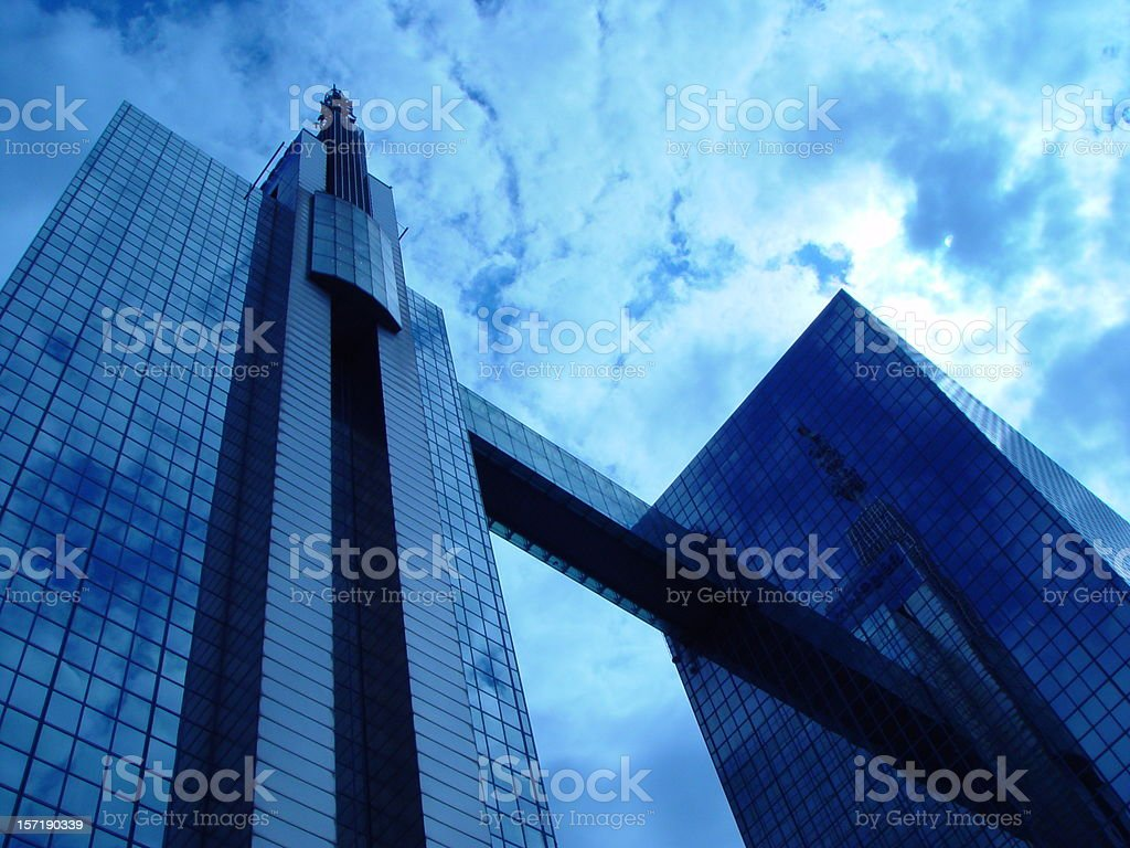 Futuristic Towerbuilding Brussels Belgium stock photo