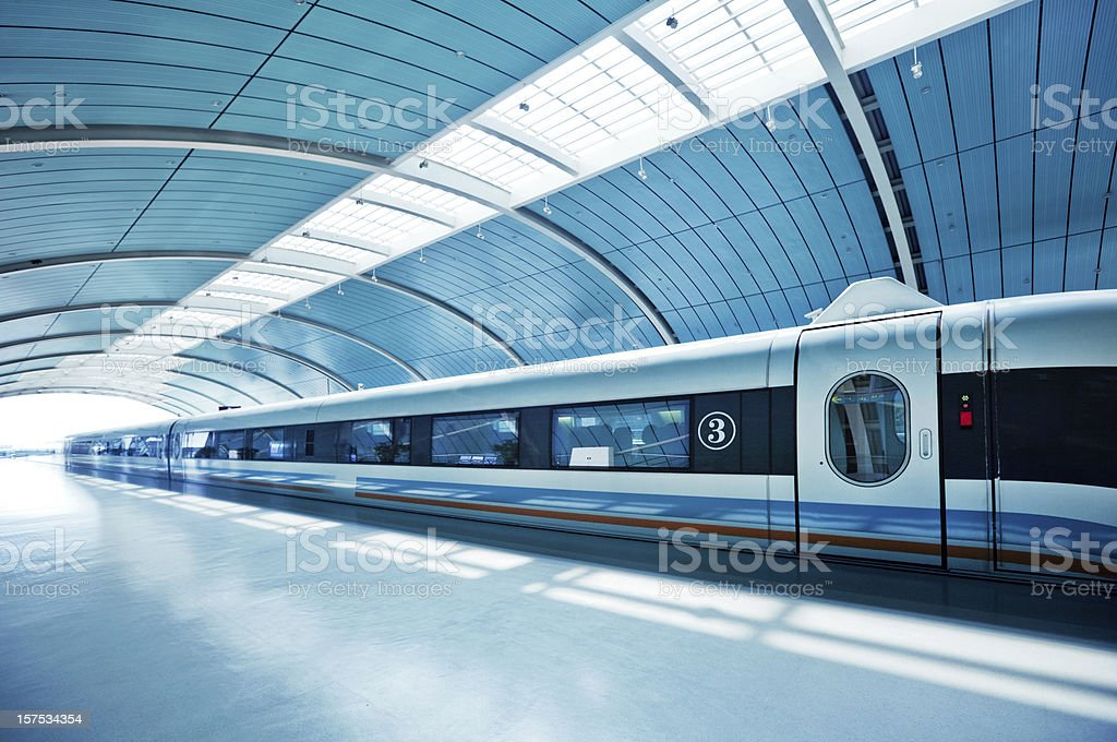 Futuristic Train stock photo