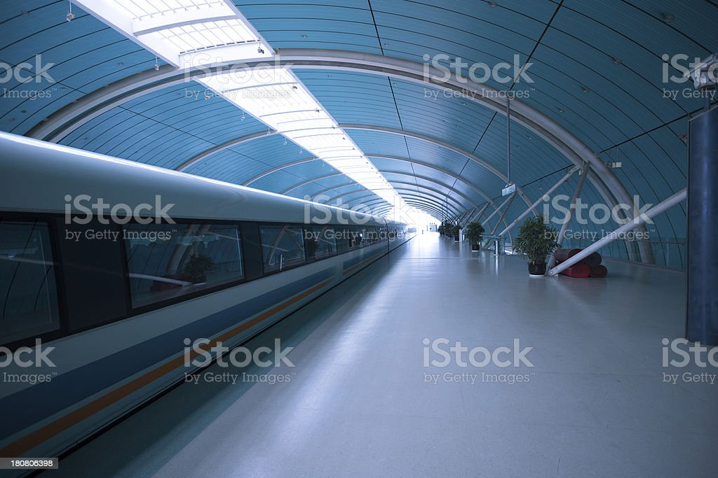 Futuristic Train royalty-free stock photo