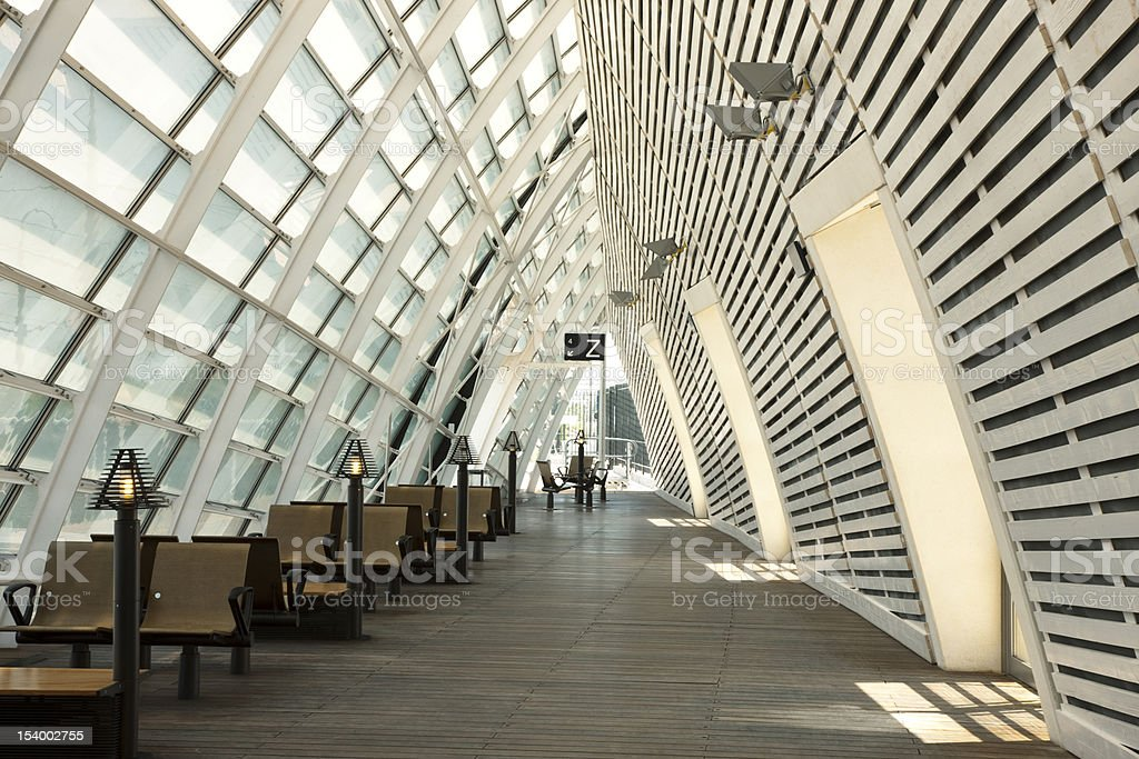 Futuristic Train Station royalty-free stock photo