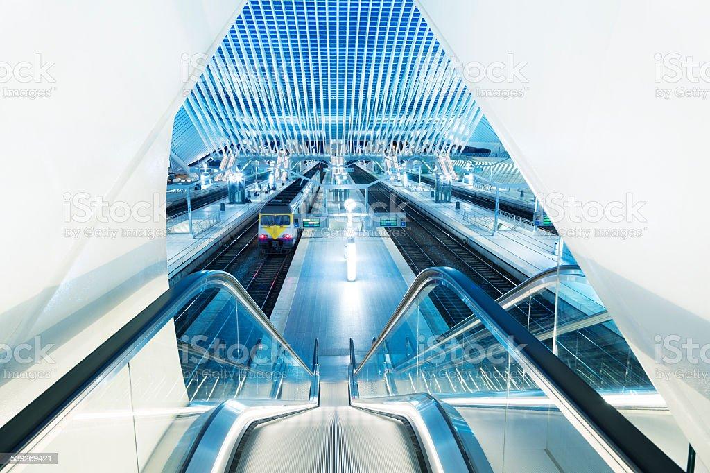 Futuristic Train Station stock photo
