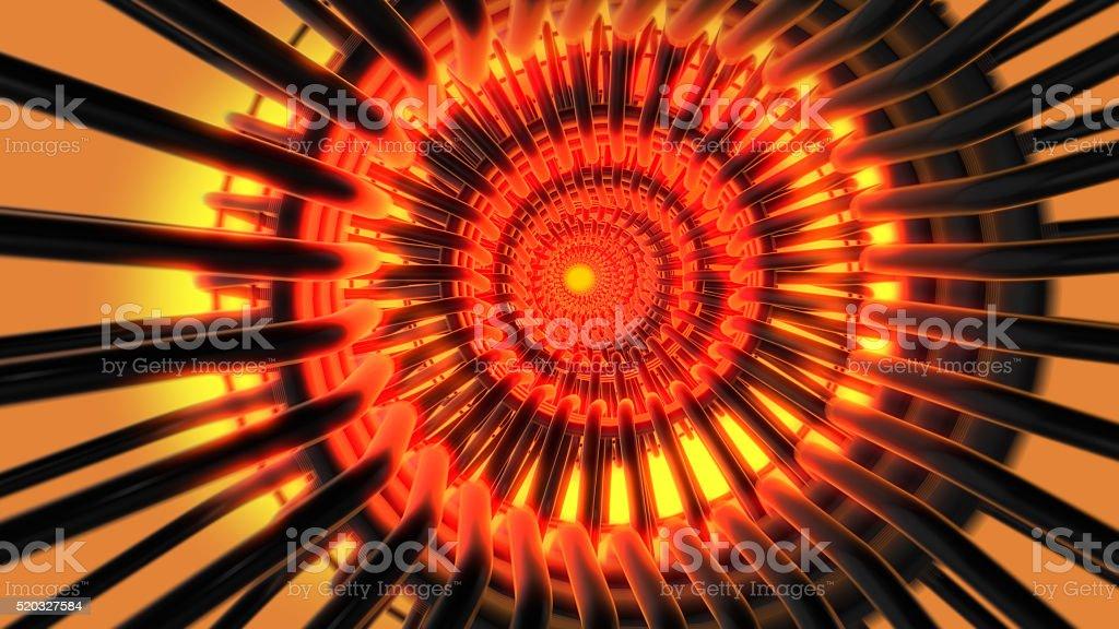 Futuristic tunnel vision stock photo