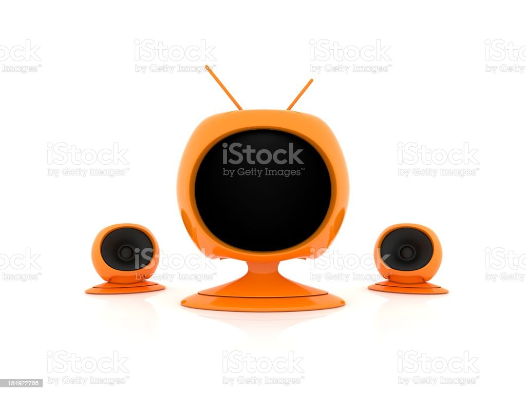 Futuristic TV stock photo