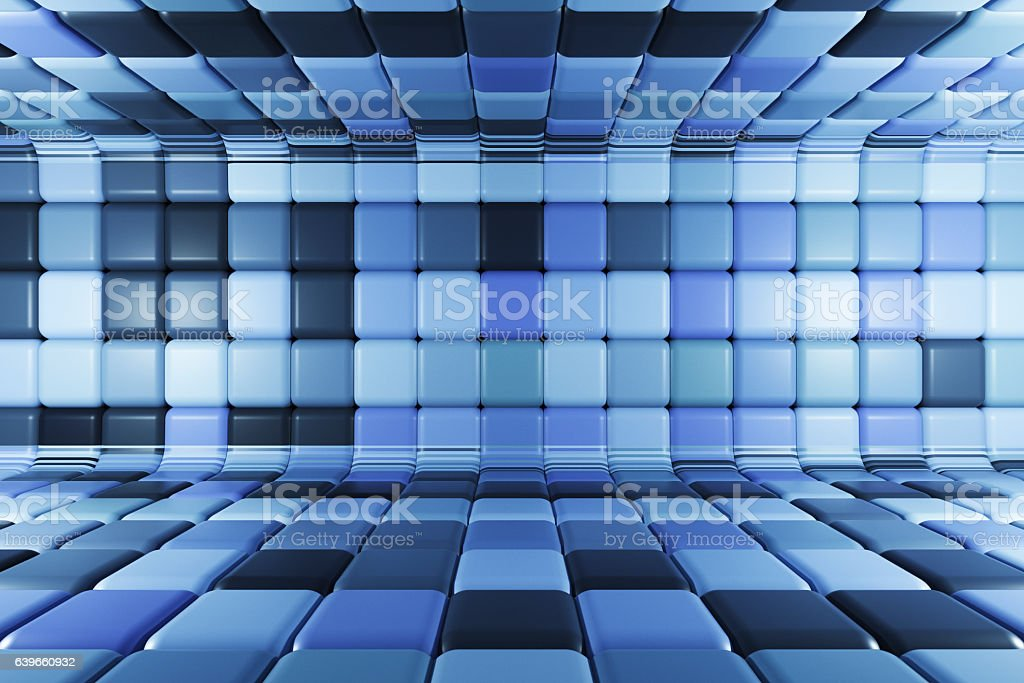 Futuristic urban corridor stock photo