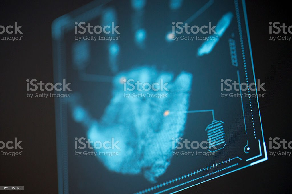 Futuristic user interface HUD and Infographic elements. stock photo