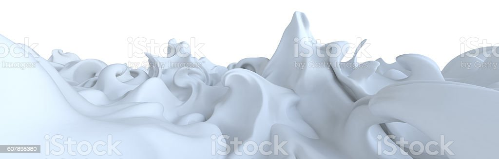 futuristic white background Mountain stock photo