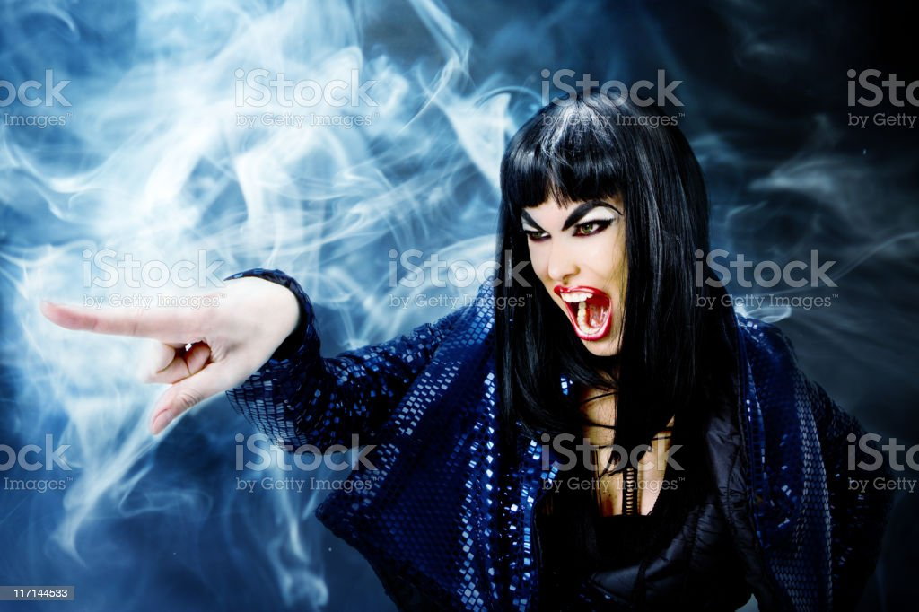 Futuristic Witch royalty-free stock photo