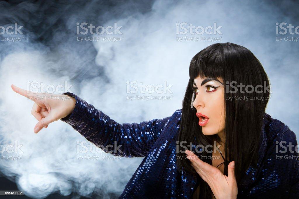 Futuristic Witch stock photo