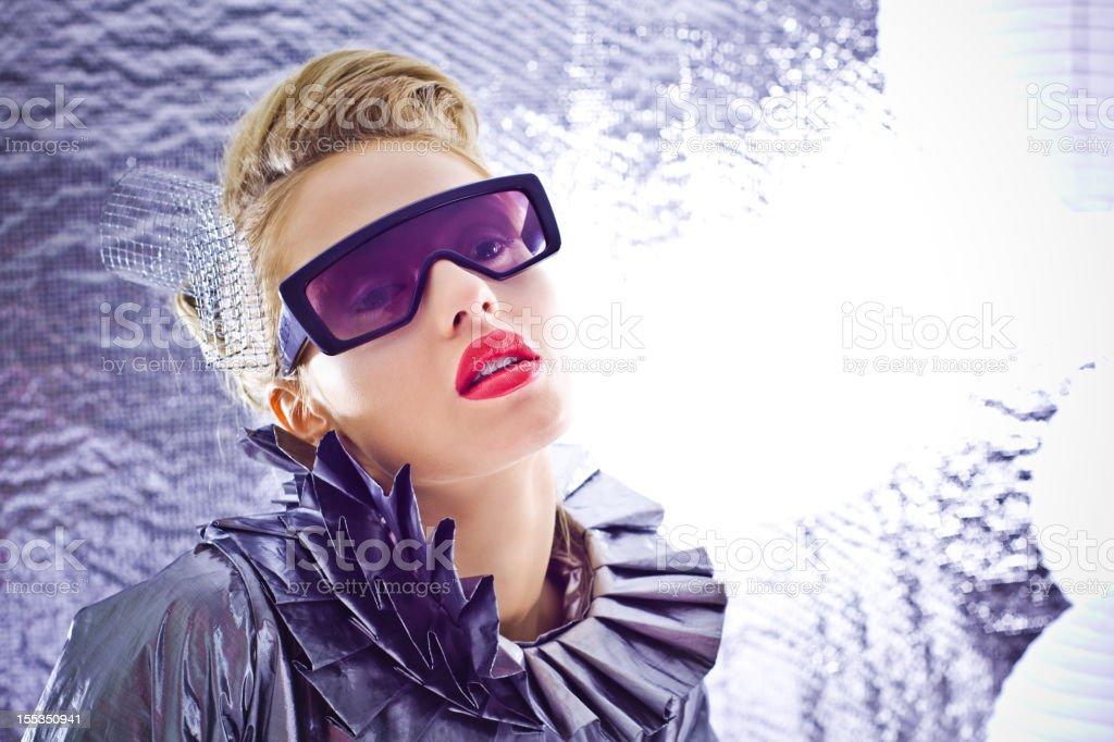 Futuristic woman royalty-free stock photo
