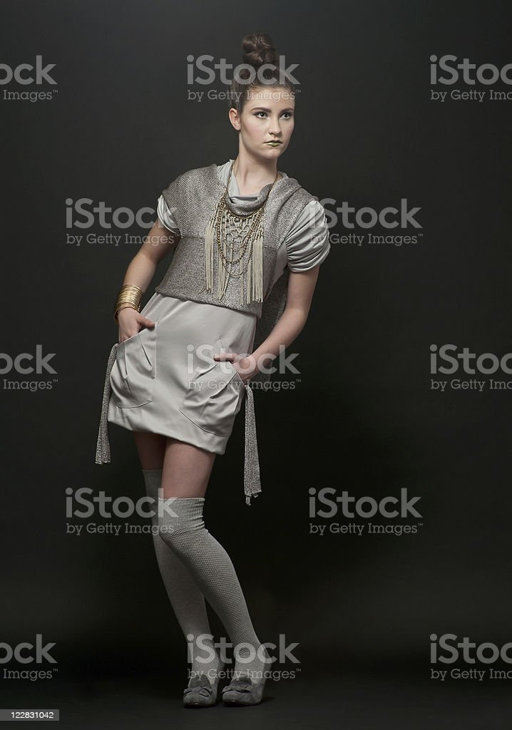 Futuristic Young Woman stock photo