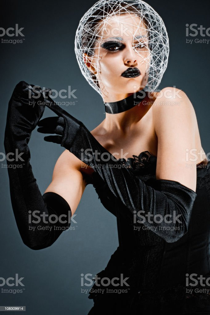 Futuristic Young Woman Portrait royalty-free stock photo