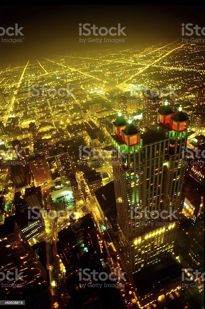Futuristic-looking Chicago royalty-free stock photo