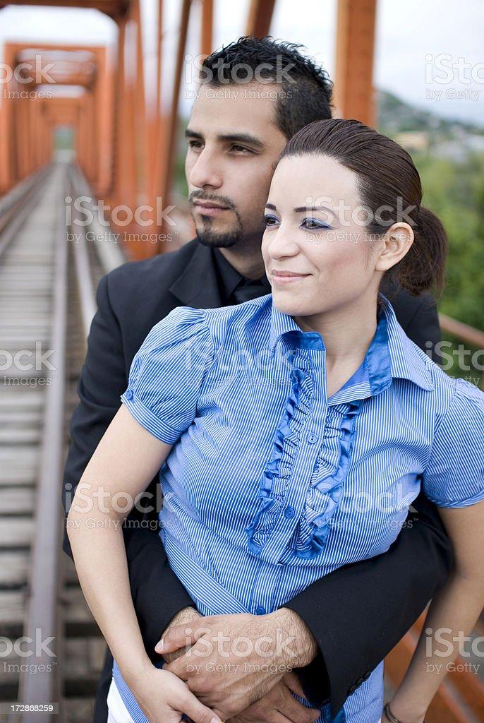 Futuritic couple royalty-free stock photo