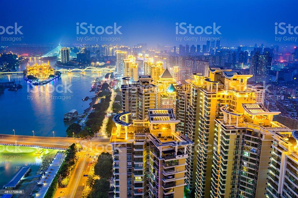 Fuzhou China Cityscape stock photo