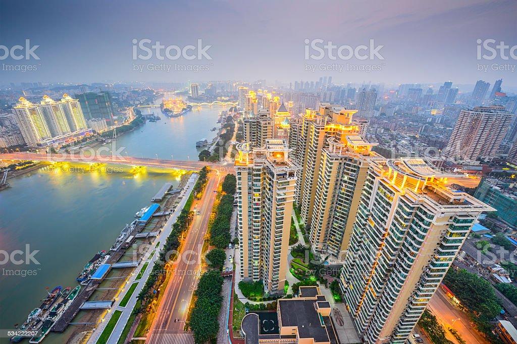 Fuzhou, China Cityscape stock photo