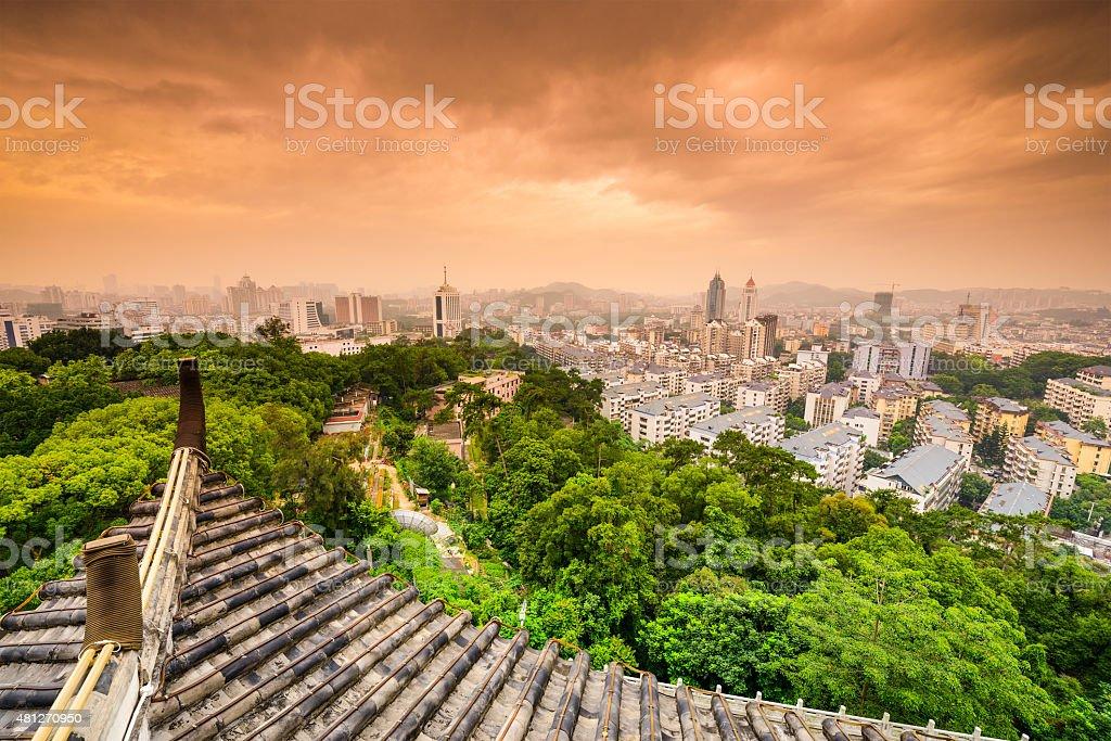 Fuzhou Cityscape stock photo