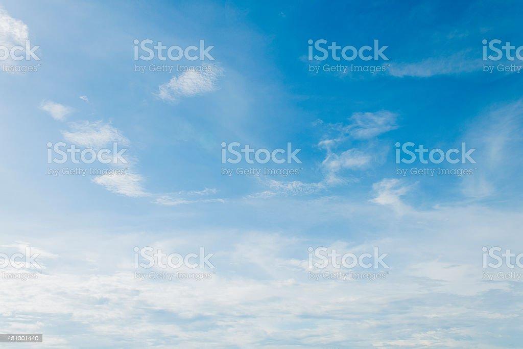 Fuzzy cloud on the blue sky stock photo
