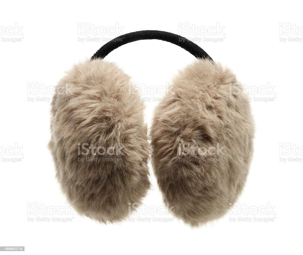 Fuzzy ear muff stock photo