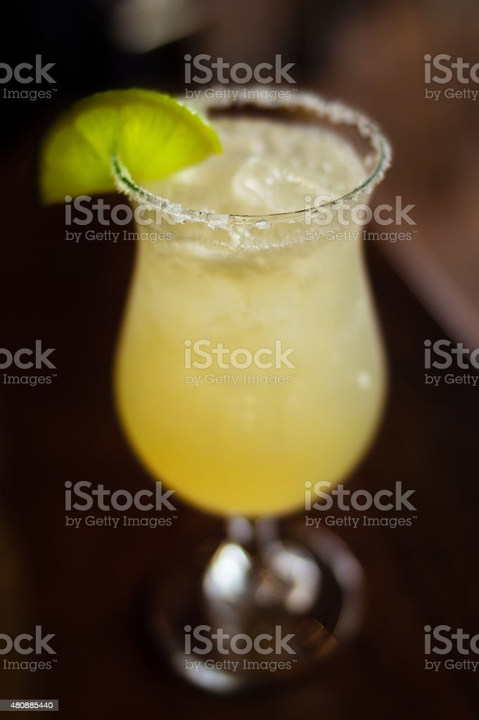 Fuzzy Margarita With Lime stock photo