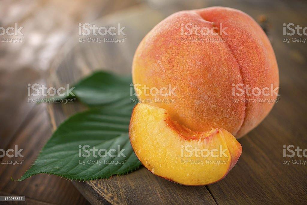 Fuzzy Organic Peach royalty-free stock photo