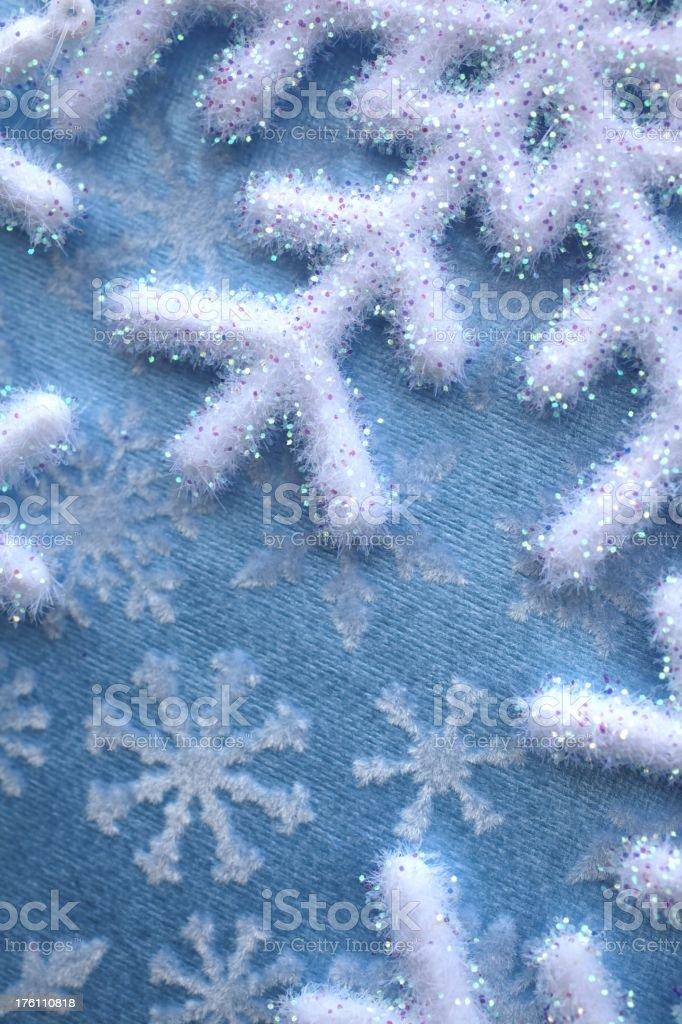 Fuzzy Velvet Snowflakes stock photo