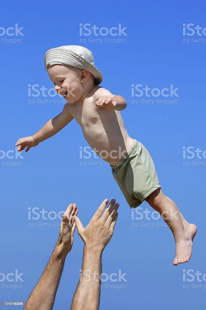 Fying boy royalty-free stock photo