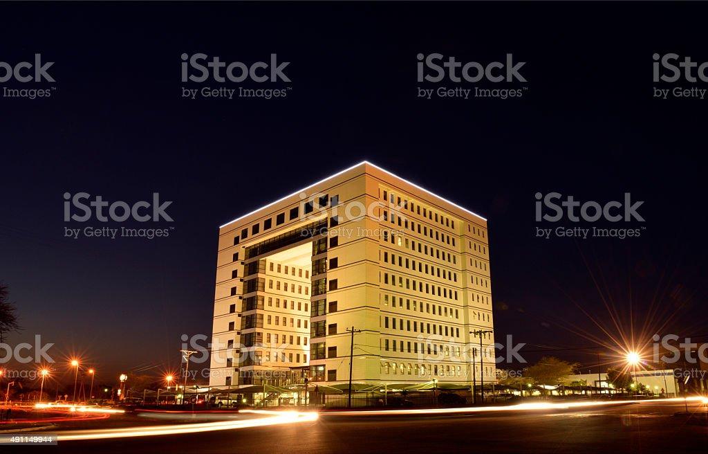 Gabarone city at night. Botswana Africa. stock photo