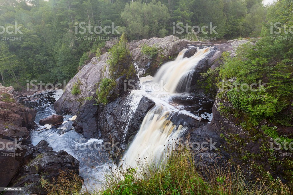 Gabbro Falls Upper Peninsula of Michigan stock photo