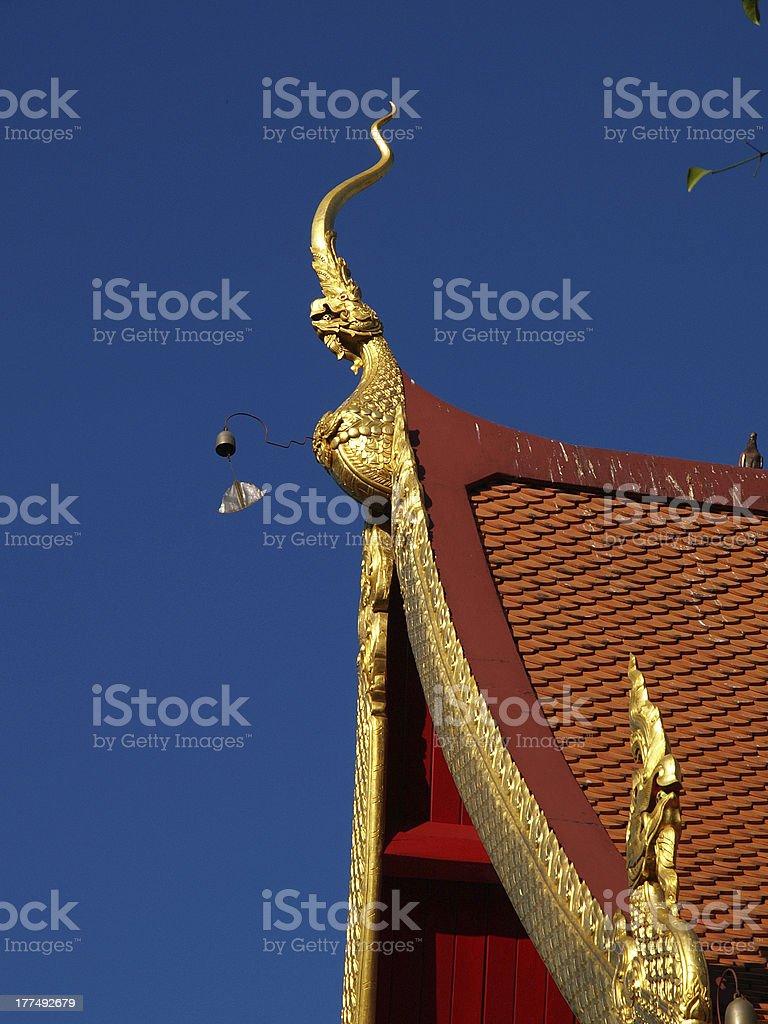 Gable apex of thai temple. royalty-free stock photo