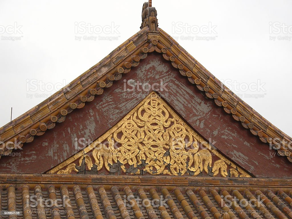 Gable End, Forbidden City, Beijing royalty-free stock photo