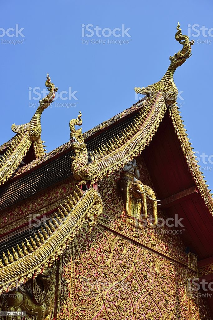 Gable of Temple royalty-free stock photo