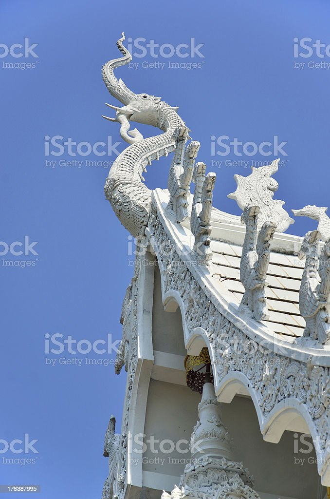 Gable of the Temple in Thailand royalty-free stock photo