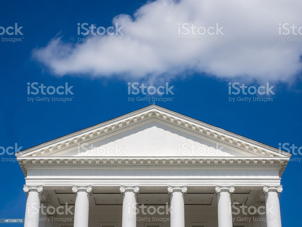 Gable on State House stock photo